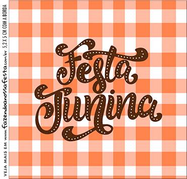 Caixa Acrilico 5x5 Kit Festa Junina Tons Pasteis