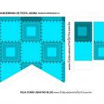 Caixa Bandeirinha Festa Junina Verso Azul