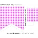 Caixa Bandeirola Xadrez Rosa parte 2