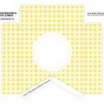 Caixa Bandeirola Xadrez amarelo parte 1