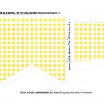 Caixa Bandeirola Xadrez amarelo parte 2