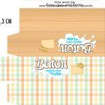 Caixa Baton Kit Festa Junina Tons Pasteis