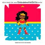 Caixa Bombom Tampa Festa Mulher Maravilha Afro Cute
