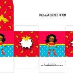 Caixa Cubo Festa Mulher Maravilha Afro Cute