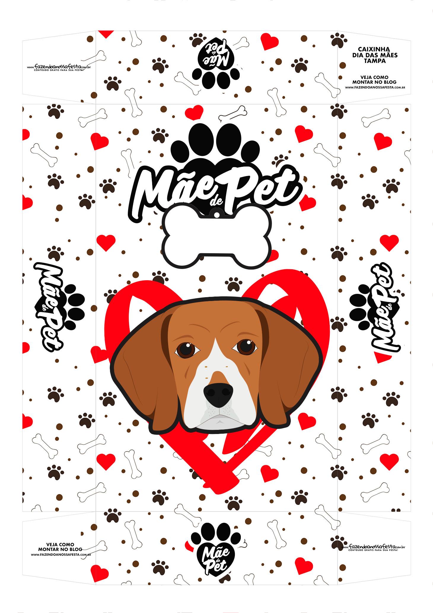 Caixa Dia das Maes beagle