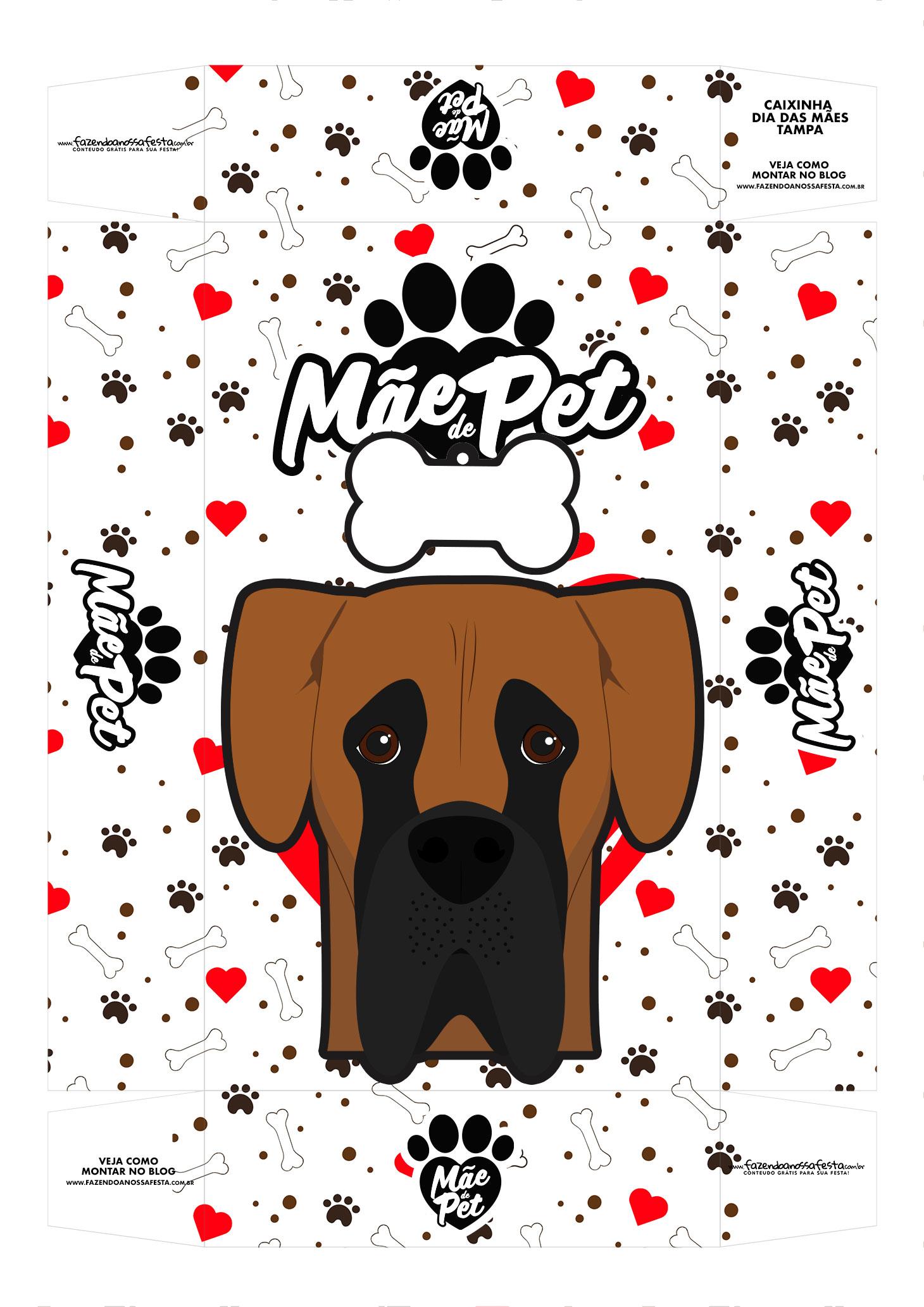 Caixa Dia das Maes dog alemao