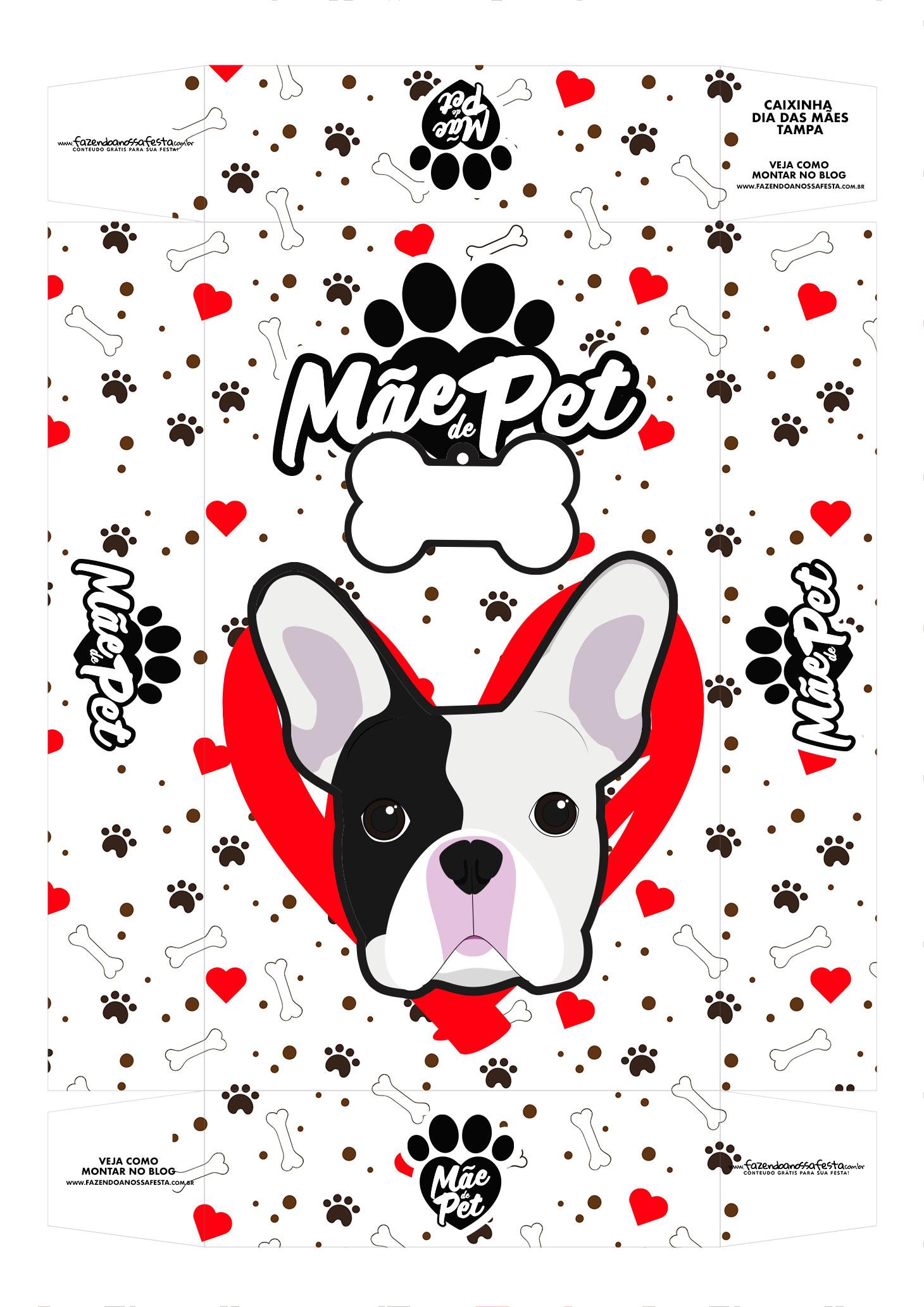 Caixa Mae de Pet Bulldog frances