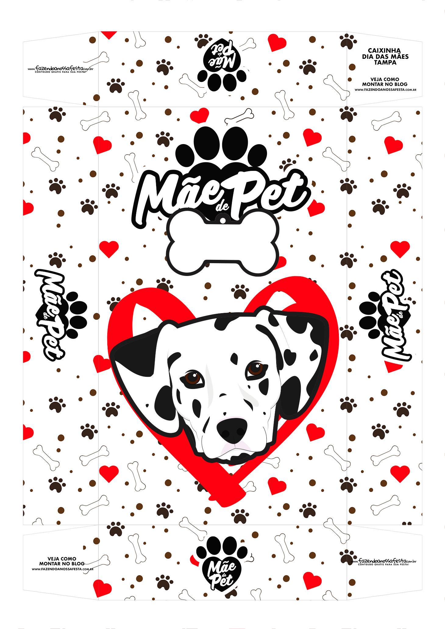 Caixa Mae de Pet dalmata