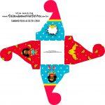 Caixa bombom personalizada Festa Mulher Maravilha Afro Cute