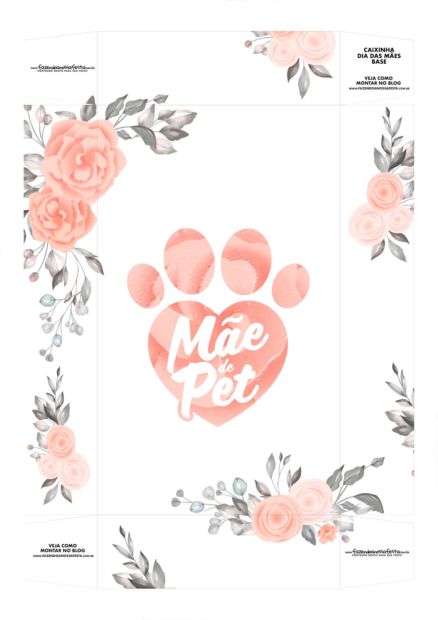 Caixinha Dia das Maes de Cat Floral Base