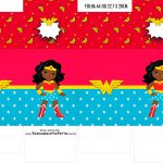 Caixinha Milk Festa Mulher Maravilha Afro Cute