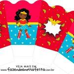 Chachepot centro de mesa Festa Mulher Maravilha Afro Cute