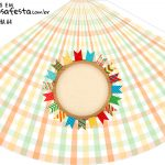 Chapeu de Festa Personalizado Kit Festa Junina Tons Pasteis