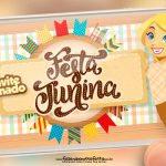 Convite Animado Festa Junina Xadrez