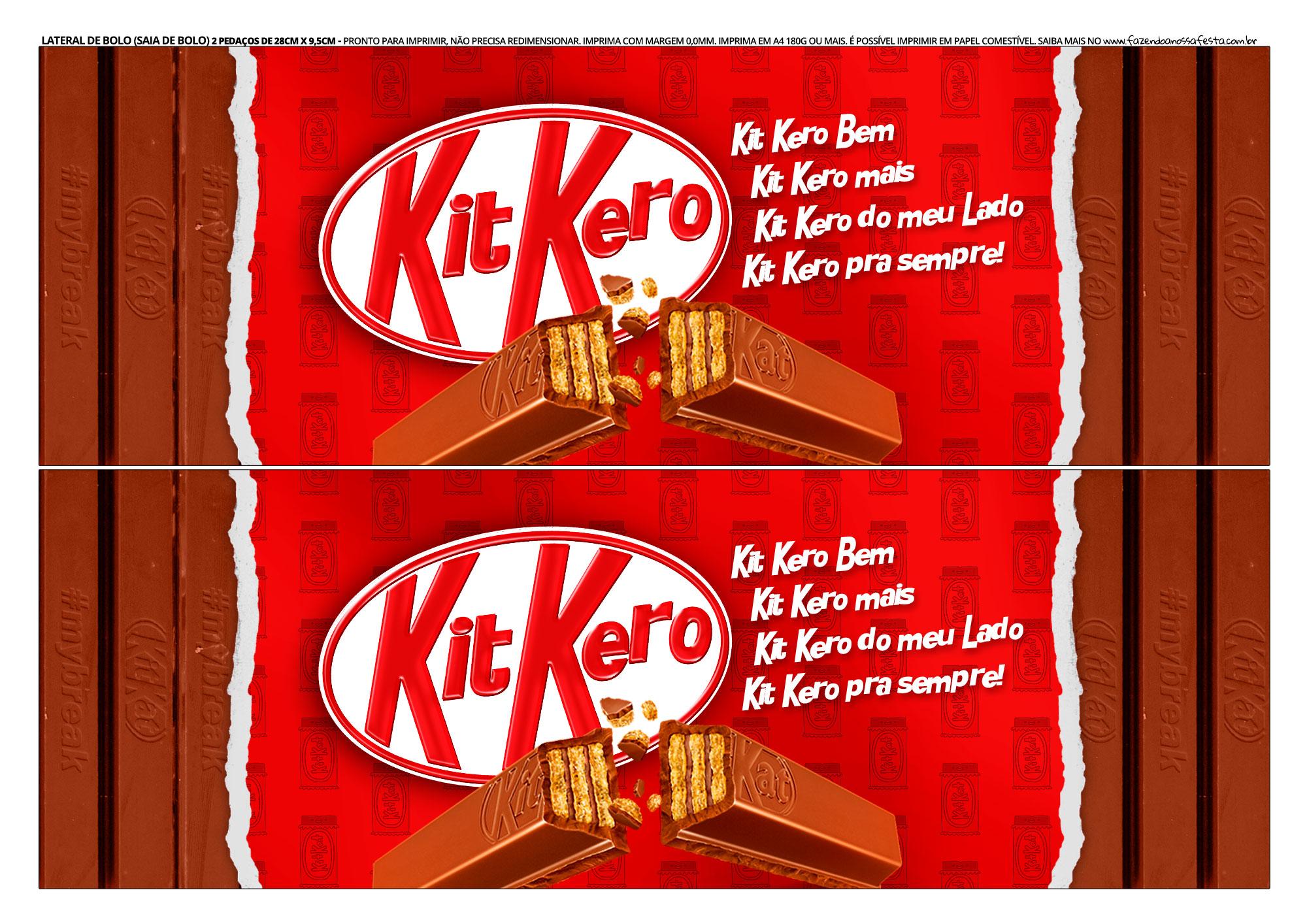 Faixa Lateral para Bolo Dia das Maes Kit Kat