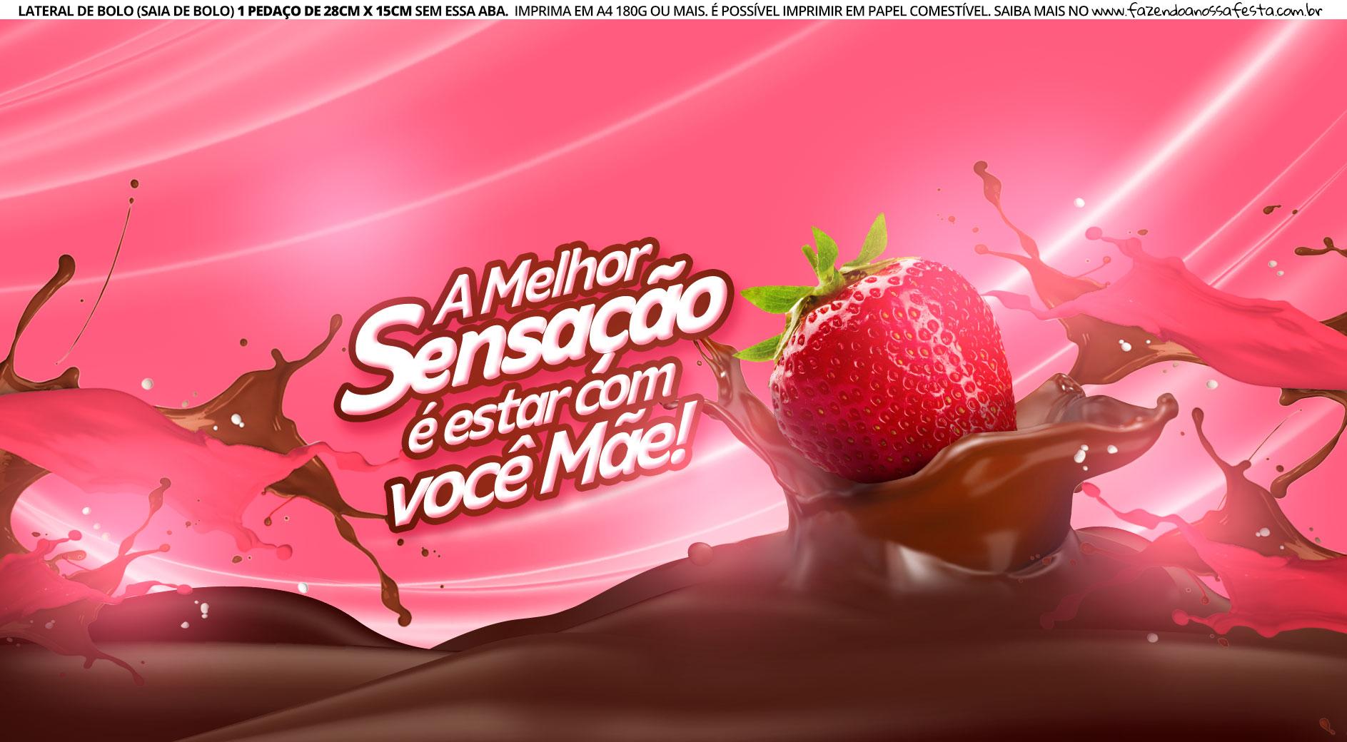 Faixa Lateral para Bolo Dia das Maes Sensacao