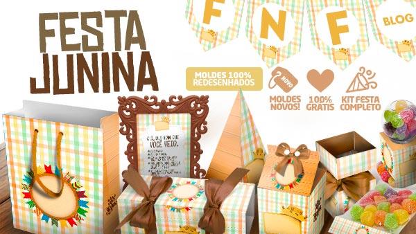 Kit Festa Junina para Imprimir Tons Pasteis