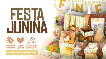 Kit Festa Junina para Imprimir Xadrez