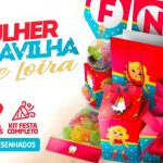 Kit Festa Mulher Maravilha Loira para Imprimir