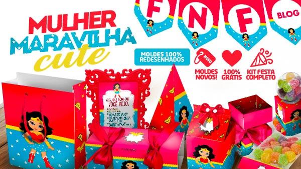 Kit Festa Mulher Maravilha Cute