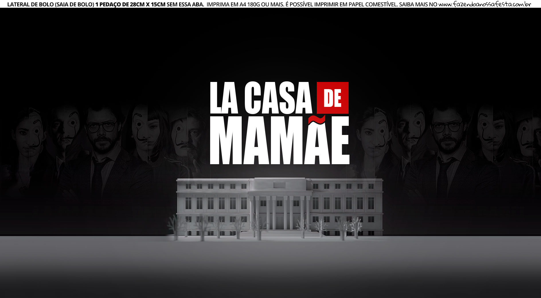 Lateral de Bolo La Casa de Mamae