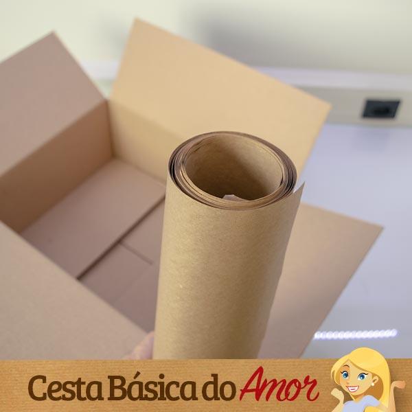 Papel Pardo usado na Caixa