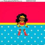 Personalizado Festa Mulher Maravilha Afro Cute