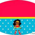 Placa Elipse Festa Mulher Maravilha Afro CutePlaca Elipse Festa Mulher Maravilha Afro Cute