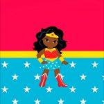 Printable Festa Mulher Maravilha Afro Cute