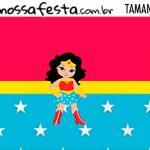 Rotulo Kit Festa Mulher Maravilha cute