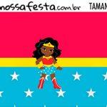 Rotulo Kit Festa Mulher Maravilha Afro Cute