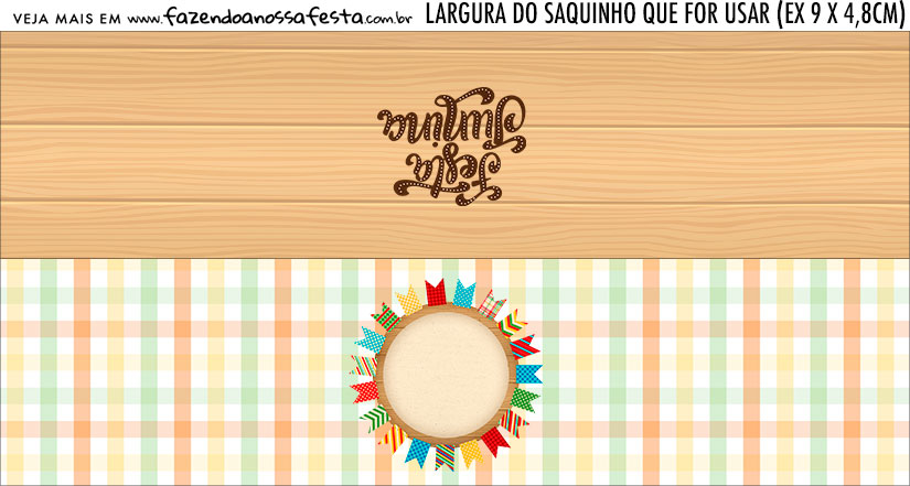 Rotulo Saquinho de Bala Kit Festa Junina para Imprimir