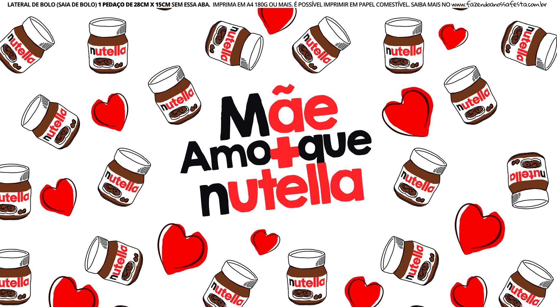 Saia de bolo Mamae Nutella