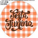 adesivo mini latinha Kit Festa Junina Tons Pasteis