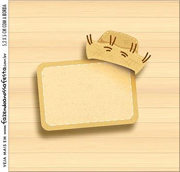 caixa de acrilico adesivo personalizado Kit Festa Junina Tons Pasteis