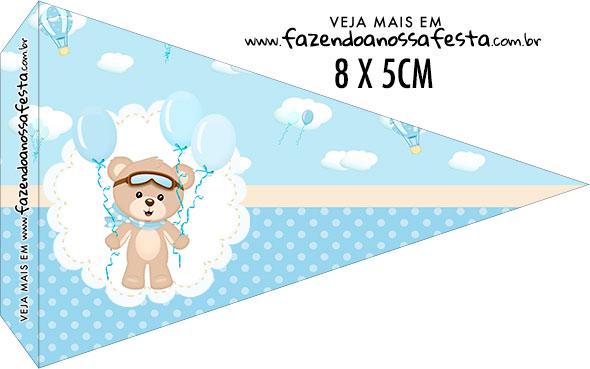 Bandeirinha Sanduiche personalizado Ursinho no Balao
