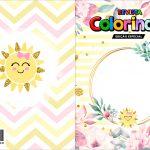 Capa Livrinho para Colorir Festa Raio de Sol