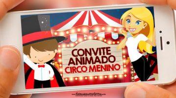 Convite Animado Circo Menino