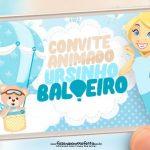 Convite Animado Ursinho Baloeiro
