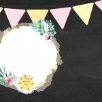Convite Chalkboard Raio de Sol 4