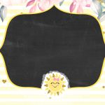 Convite Chalkboard Sunshine