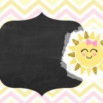 Convite Chalkboard Sunshine 2
