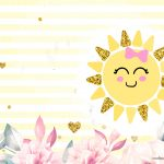 Convite Sunshine para imprimir