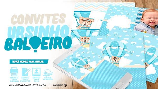 Convite Ursinho Baloeiro FNF