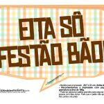Plaquinhas Festa Junina Tons Pasteis 2