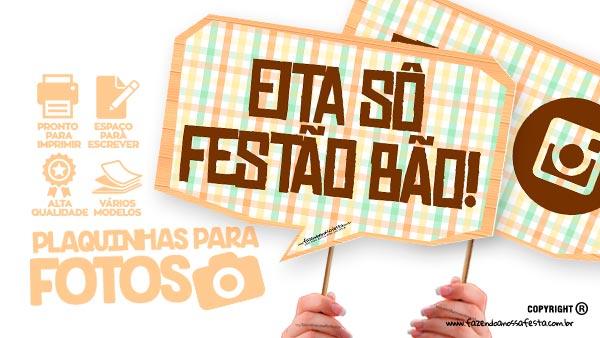 Plaquinhas Festa Junina Xadrez