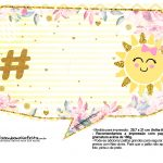 Plaquinhas Raio de Sol para Imprimir 7