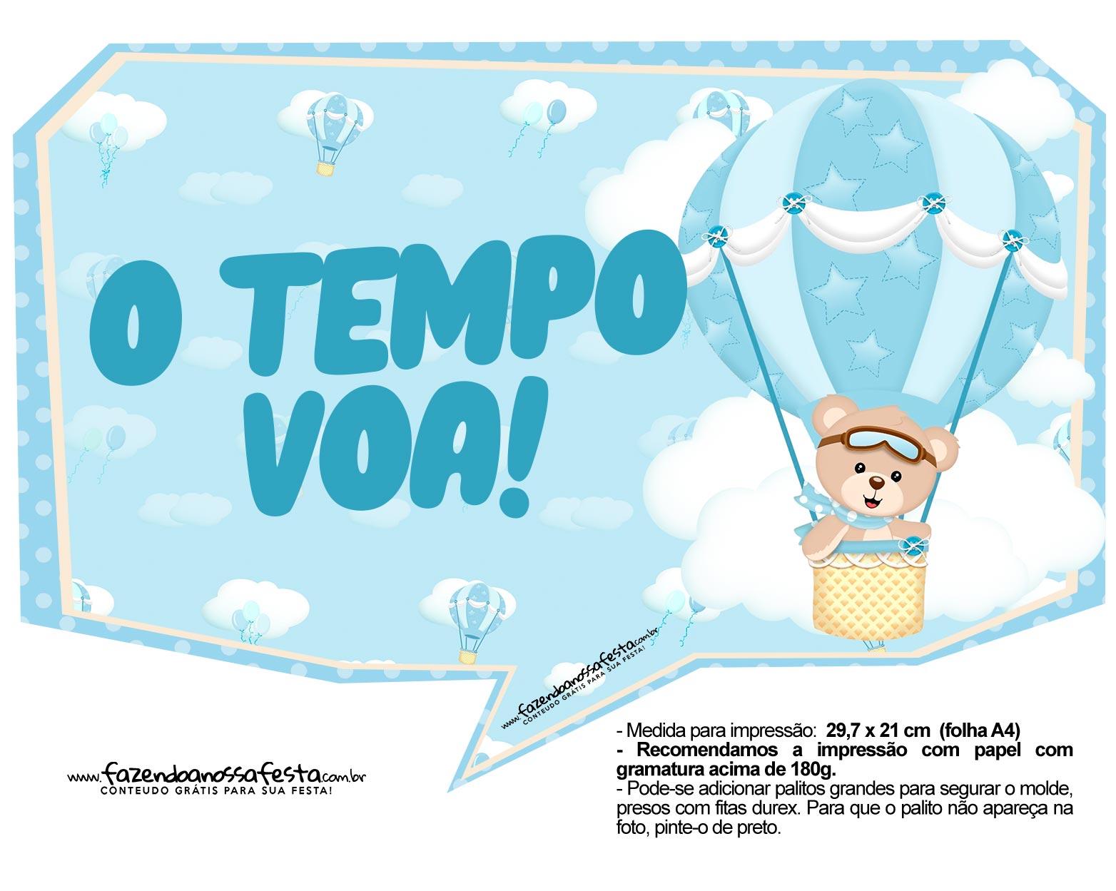 Plaquinhas Ursinho Baloeiro 02