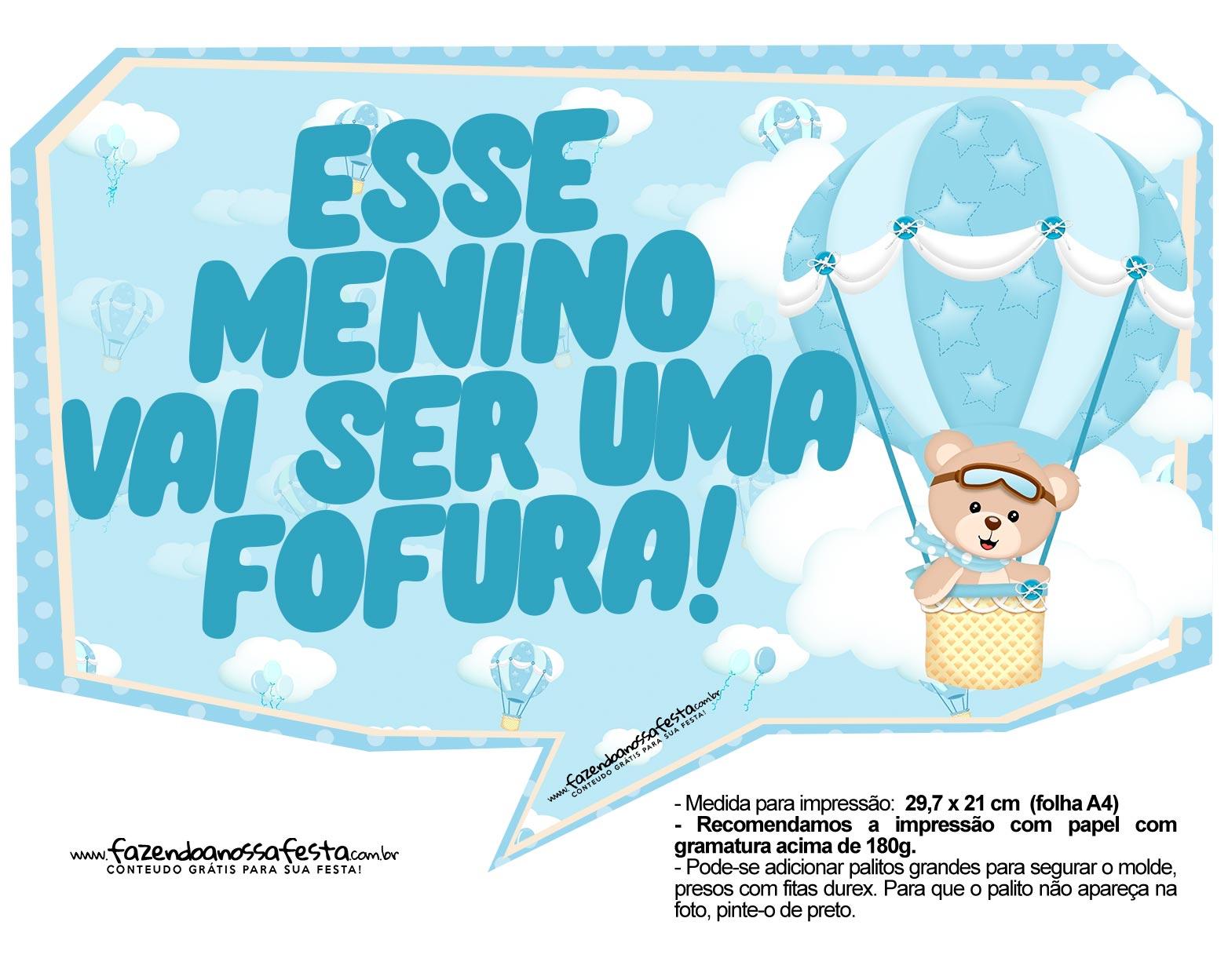 Plaquinhas Ursinho Baloeiro 03