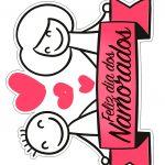 Topo de Bolo Dia dos Namorados para Imprimir 2
